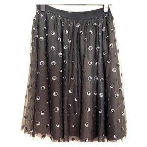 Ann Taylor sequin dot skirt NWOT
